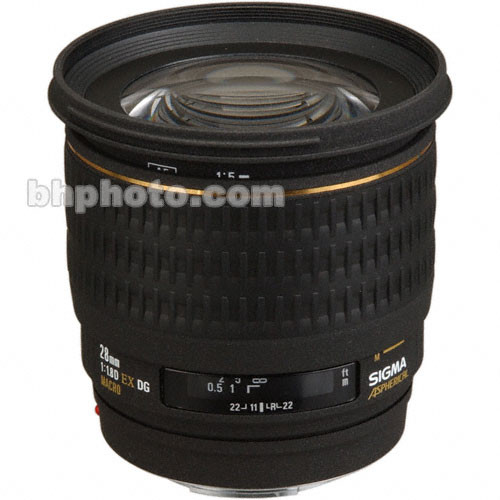 Sigma 28mm f/1.8 EX Aspherical DG DF Macro Autofocus Lens for Sigma SLR Camera