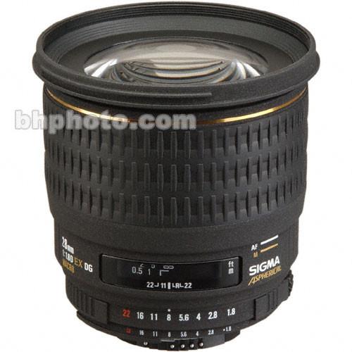 Sigma W/A 28mm f/1.8 EX Aspherical DG DF Macro AF Lens
