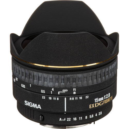Sigma 15mm f/2.8 EX DG Diagonal Fisheye Lens for Pentax K