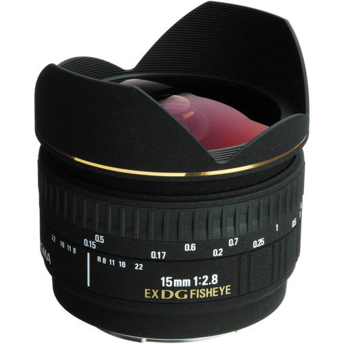 Sigma 15mm f/2.8 EX DG Diagonal Fisheye Autofocus Lens for Sony Alpha Mount