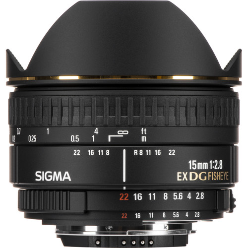 Sigma 15mm f/2.8 EX DG Diagonal Fisheye Lens for Nikon F