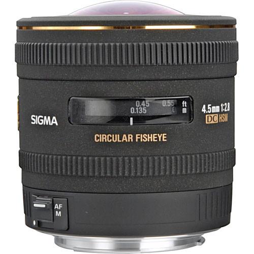 Sigma 4.5mm f/2.8 EX DC HSM Circular Fisheye Lens for Canon EF
