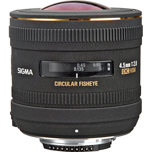 Sigma 4.5mm f/2.8 EX DC HSM Circular Fisheye Lens for Nikon F