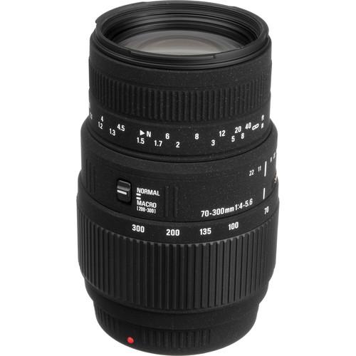 Sigma 70-300mm f/4-5.6 DG Macro Lens for Sony and Minolta Cameras