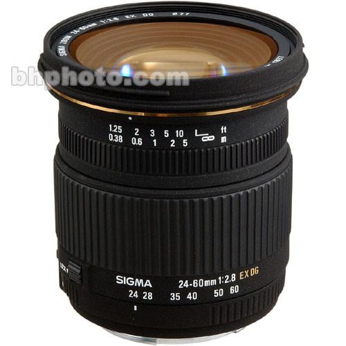 Sigma 24-60mm f/2.8 EX DG Autofocus Lens