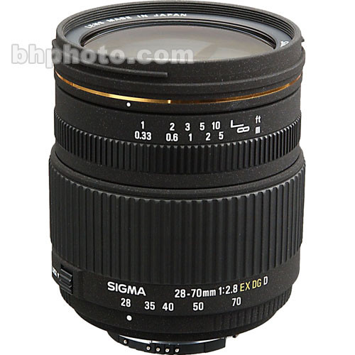 Sigma 28-70mm f/2.8 EX DG Autofocus Lens for Nikon AF