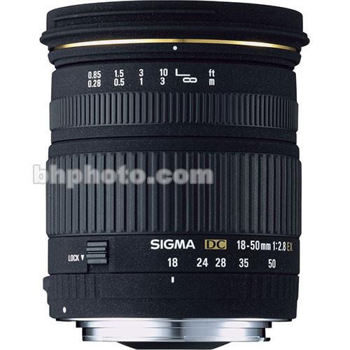 Sigma 18-50mm f/2.8 EX DC Macro Lens for Canon Digital EOS