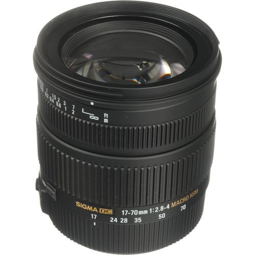 Sigma 17-70mm f/2.8-4 DC Macro OS HSM Lens for Nikon Digital Cameras