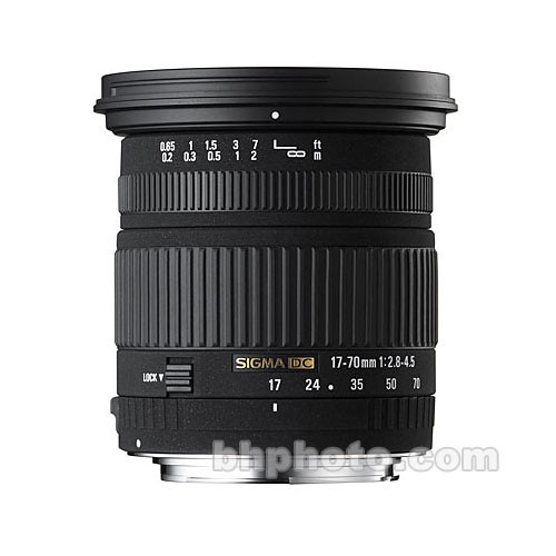 Sigma 17-70mm f/2.8-4.5 DC Macro Lens for Canon Digital Cameras