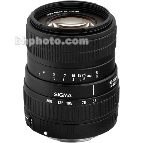 Sigma 55-200mm f/4-5.6 DC Lens for Digital EOS