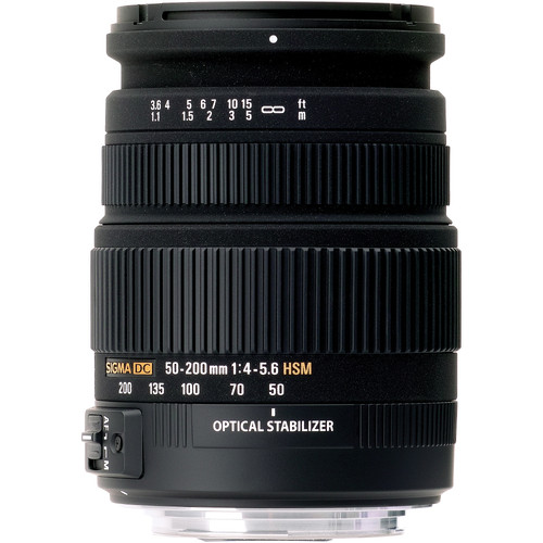 Sigma 50-200mm f/4-5.6 DC OS HSM High Performance Telephoto Zoom  For Sigma Cameras