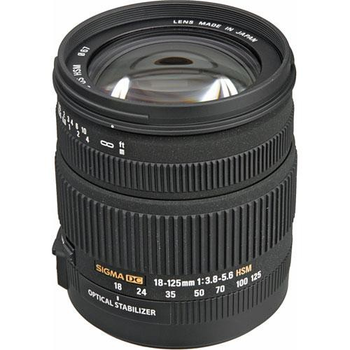 Sigma 18-125mm f/3.8-5.6 DC OS HSM Lens for Sigma Digital SLR Camera