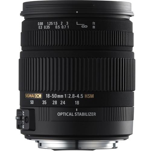 Sigma 18-50mm f/2.8-4.5 DC OS HSM Zoom For Canon D-SLRs