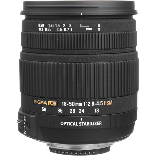 Sigma 18-50mm f/2.8-4.5 DC OS HSM Zoom For Nikon D-SLRs