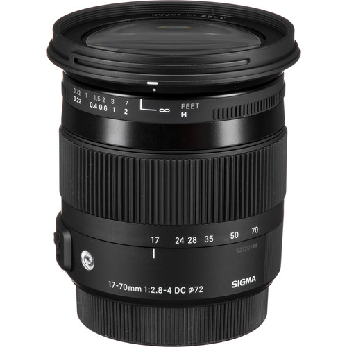 Sigma 17-70mm f/2.8-4 DC Macro OS HSM Contemporary Lens for Canon EF