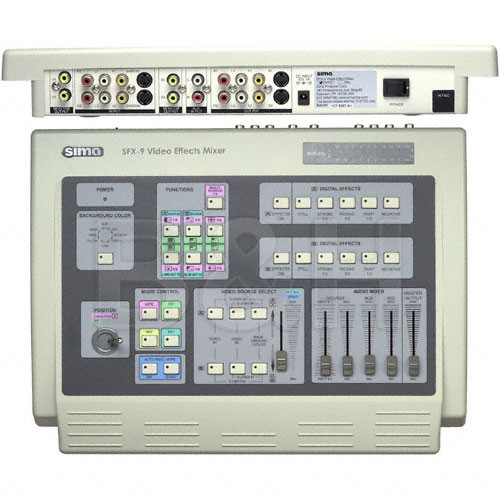 Sima SFX-9 Video Mixer - 5 Digital Effects and Dual Time Base Corrector, NTSC and PAL