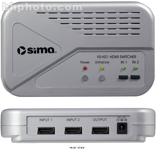 Sima VS-H21 2x1 HDMI Video Switcher