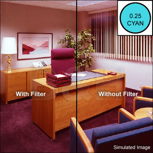 "Sinar 125mm (5x5"") CC025C Color Compensating 025 Cyan Resin Filter"