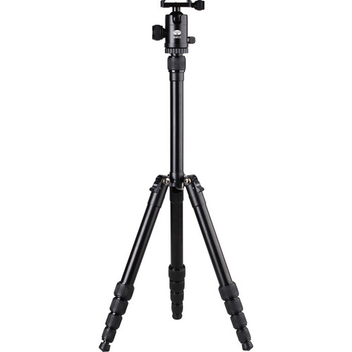 Sirui T-005 5-Section Aluminum Tripod with C-10 Ball Head - Black