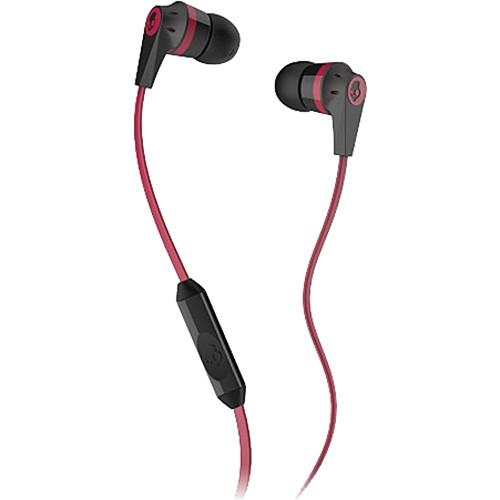 Skullcandy INK'D MIC'D Earbud Headphones (Black and Red)
