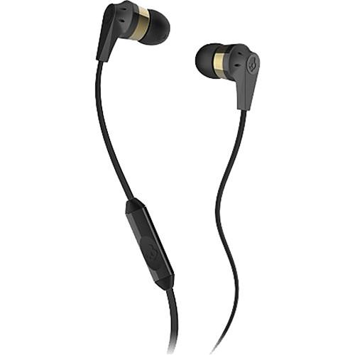 Skullcandy INK'D MIC'D Earbud Headphones (Gold and Black)