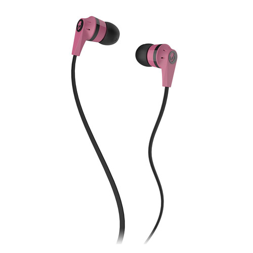 Skullcandy INK'D 2.0 Earbud Headphones (Pink and Black)