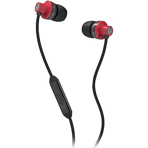 Skullcandy Titan Mic'd Earbud Headphones (Red and Black)