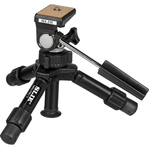 Slik Mini-Pro V Tripod with 2-Way Pan/Tilt Head - Supports 3.3 lb (1.5 kg)