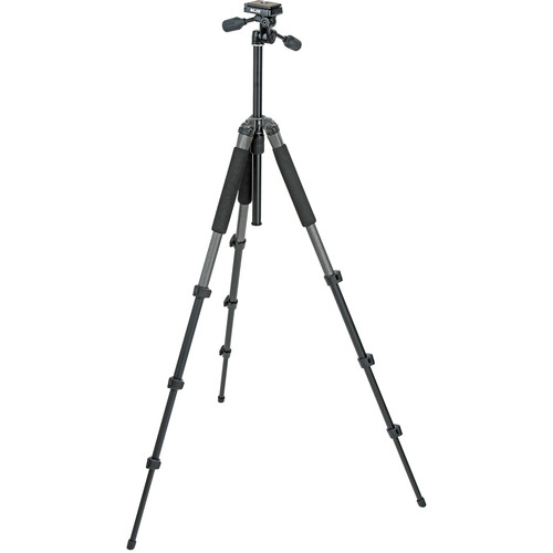 Slik Sprint Pro II 4-Section Tripod w/ 3-Way Panhead (Gunmetal)
