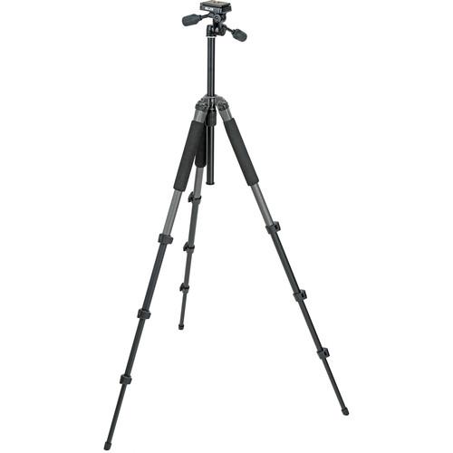 Slik Sprint Pro II 4-Section Tripod w/ 3-Way Panhead (Gunmetal)