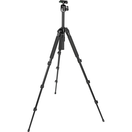 Slik Pro 340 BH 4-Section Tripod w/ SBH-200DQ Ballhead - Supports 8.8 lbs (4kg)