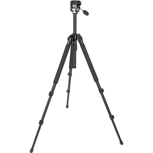 Slik Pro 330EZ Tripod with 2-Way Pan/Tilt Head (Black)