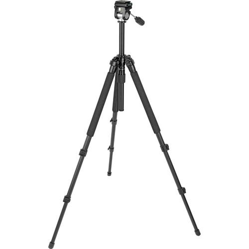 Slik Pro 330EZ Tripod with 2-Way Pan/Tilt Head (Black)