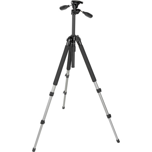 Slik Pro-330DX Tripod with 3-Way Pan Head Titanium with Quick Release