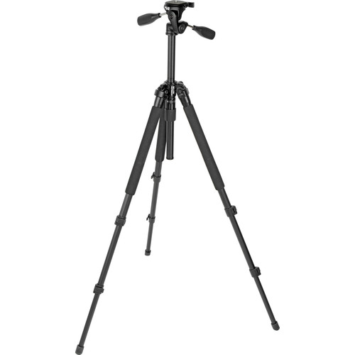 Slik Pro-330DX Tripod with 3-Way Pan Head (Black) with Quick Release