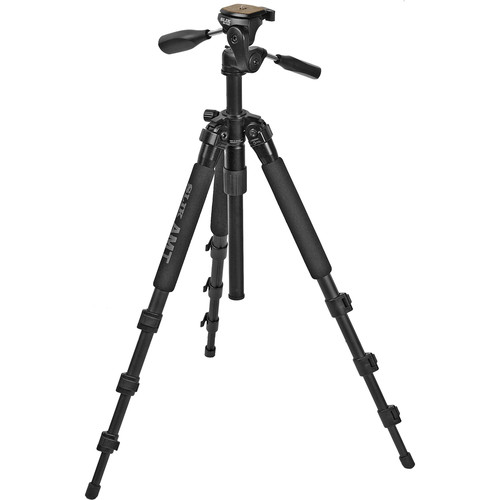 Slik Pro 340 DX Tripod with SH-705E 3-Way, Pan-and-Tilt Head (Black)