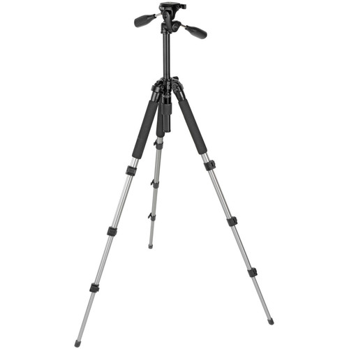 Slik Pro 340 DX Tripod with SH-705E 3-Way, Pan-and-Tilt Head (Titanium)