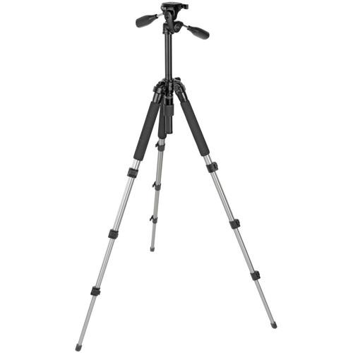 Slik Pro 340 DX Tripod with SH-705E 3-Way, Pan-and-Tilt Head (Titanium)