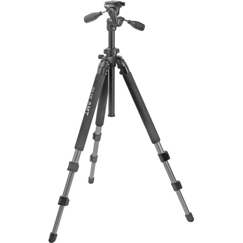 Slik Pro 500DX Tripod with 3-Way Pan/Tilt Head - Supports 10 lb (4.5 kg)