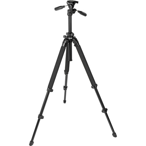 Slik Pro 400 DX Tripod with SH-705E 3-Way, Pan-and-Tilt Head