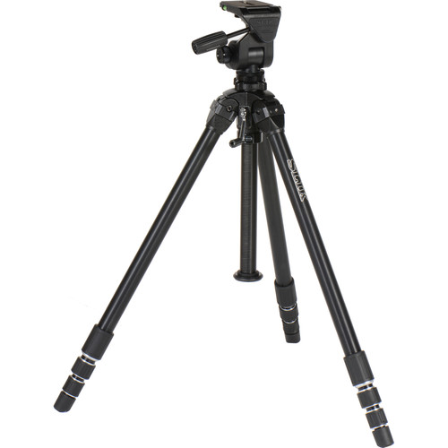 Slik Professional 4 Tripod with SH-909 3-Way, Pan-and-Tilt Head