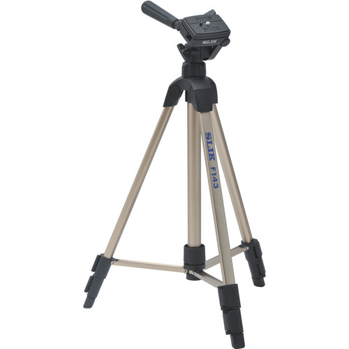 Slik F143 Lightweight Aluminum Tripod with 3-Way Panhead