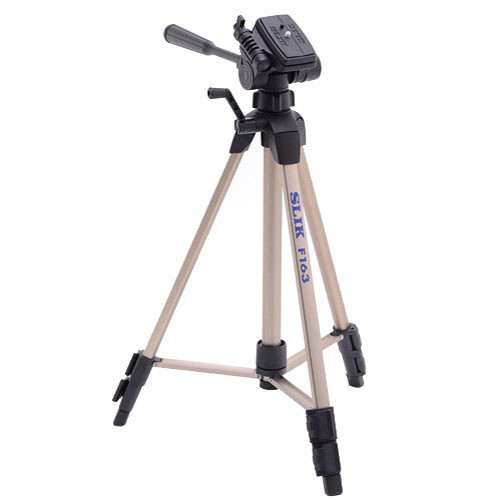 Slik F163 Lightweight Aluminum Tripod with 3-Way Panhead