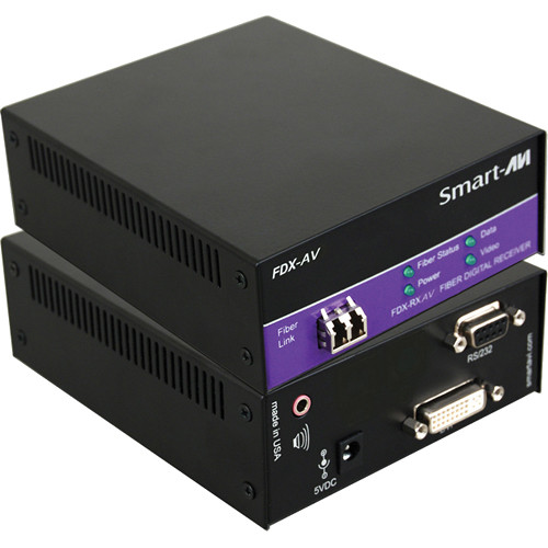 Smart-AVI FDX-AVS Multimode Fiber Extender with Power Supply