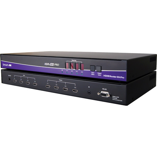 Smart-AVI 4-port HDMI 1.3 Matrix Switch/Extender over STP (IR, RS-232)