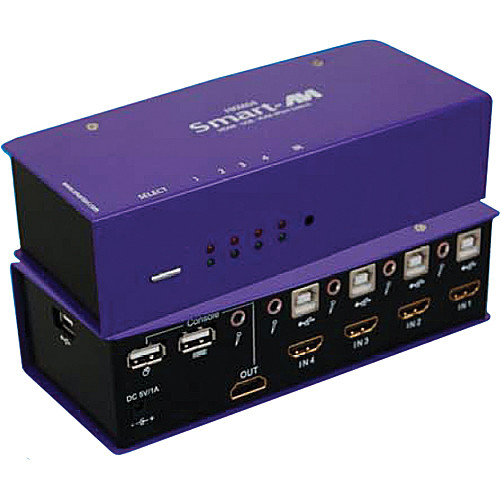 Smart-AVI HKM-04 HDMI-USB-KVM Switch