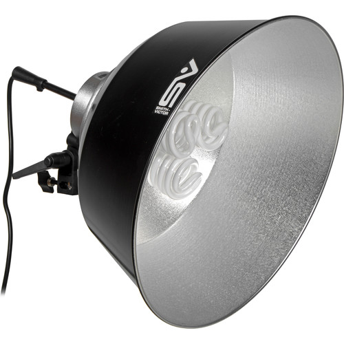 """Smith-Victor FL3 16"""" Reflector with Ceramic Socket and 3 Fluorescent FL26 Lamps (120 VAC)"""