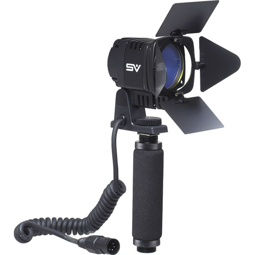 Smith-Victor SV950 DC Interview Video Light with Built-in Barndoors and Dichroic and Diffusion Filters (V AC)