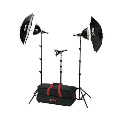Smith-Victor K6RC 3-Light 1250 Watt Adapta-Light Home Portrait Kit (120VAC)