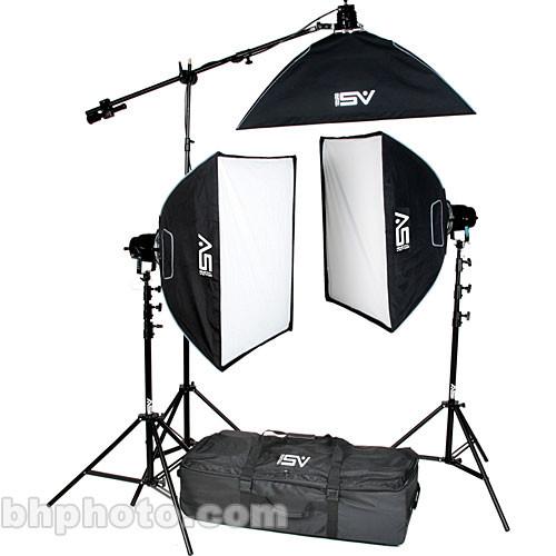 Smith-Victor K71 3-Light 2600 Watt Professional Studio Soft Box Kit (120VAC)